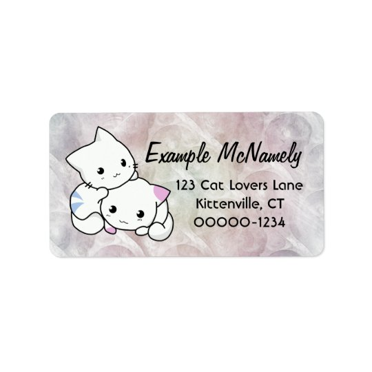 Adorable Kittens Address Label