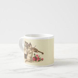 Adorable Kittens sing and Play Violin Espresso Mug