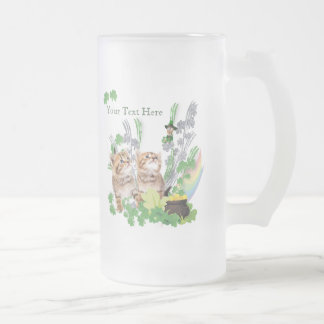 Adorable Kittens St Pattys Day Mug With Rainbow