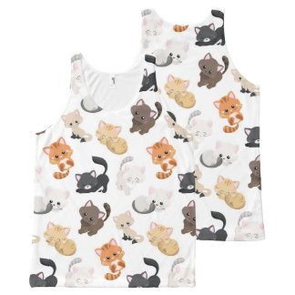 Adorable Kitty Cats Print All-Over Print Tank Top