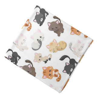 Adorable Kitty Cats Print Bandana
