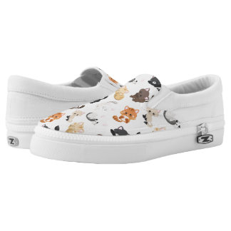 Adorable Kitty Cats Print Slip On Shoes