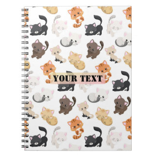 Adorable Kitty Cats Print Spiral Notebook
