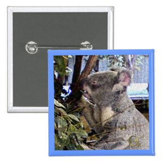 Adorable Koala 15 Cm Square Badge