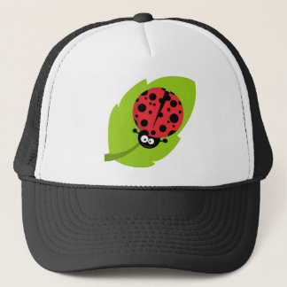 Adorable Ladybug on a Leaf Trucker Hat