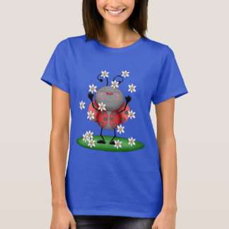 Adorable Ladybug womens cartoon t-shirt