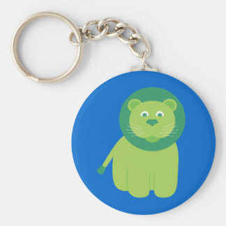 Adorable Lion Basic Round Button Key Ring