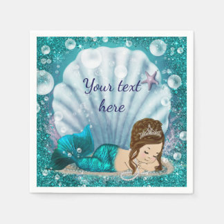 Adorable Little Mermaid Paper Napkins Disposable Serviette