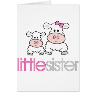 Adorable Little Sister Sheep T-shirt Greeting Card
