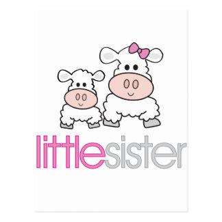 Adorable Little Sister Sheep T-shirt Postcard