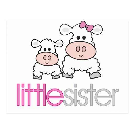 Adorable Little Sister Sheep T-shirt Post Cards
