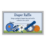Adorable Little Sport Player Diaper Raffle Tickets Pack Of Standard Business Cards