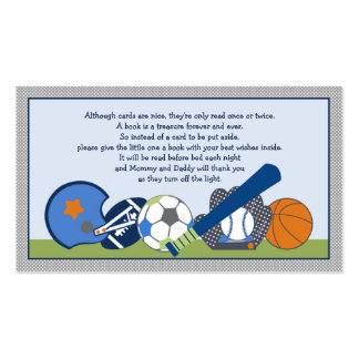Adorable Little Sports Player Book Request Cards Pack Of Standard Business Cards