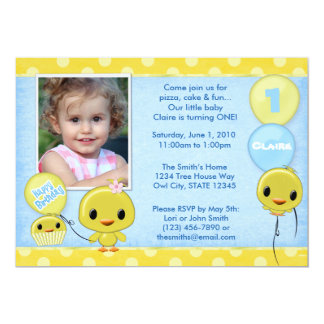 Adorable Little Yellow Chick (photo) Card