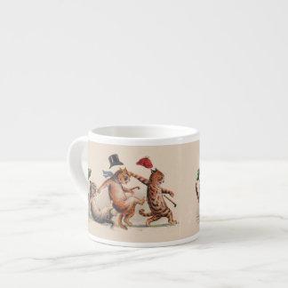 Adorable Louis Wain Cat Catastrophe Expresso Mug 6 Oz Ceramic Espresso Cup