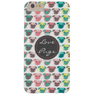 "Adorable "" Love Pugs"" colorful pugs illustration Barely There iPhone 6 Plus Case"