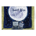 Adorable Lovestruck Moon-Gazing Thank You Notes Note Card