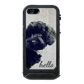 Adorable Loving Friend/Black Poodle Puppy Hello Incipio ATLAS ID™ iPhone 5 Case