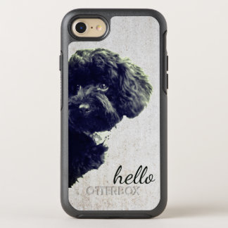 Adorable Loving Friend/Black Poodle Puppy Hello OtterBox Symmetry iPhone 8/7 Case