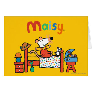 Adorable Maisy in Red Overalls Card