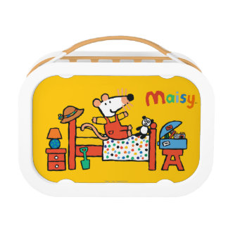 Adorable Maisy in Red Overalls Lunch Box