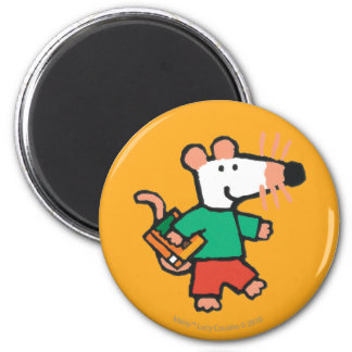 Adorable Maisy Loves to Read 6 Cm Round Magnet
