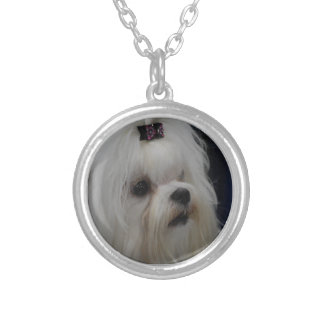 Adorable Maltese Personalized Necklace