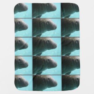 Adorable Manatee Swimming Swaddle Blankets