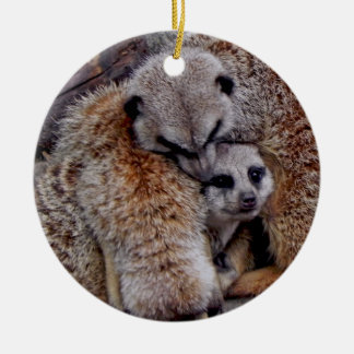 Adorable Meerkats Bundle of Fur Nature Photo Christmas Ornament