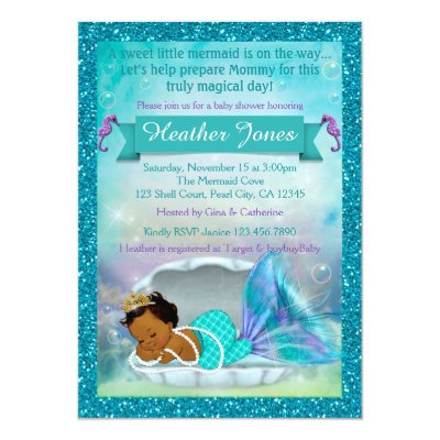 Adorable Mermaid Baby Shower Invitations #130 | Zazzle.co.uk