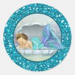 Adorable Mermaid Baby Shower sticker stickers #130