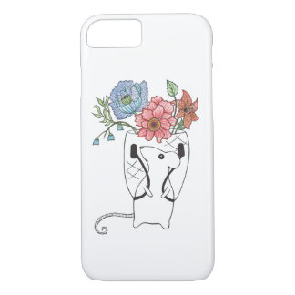 Adorable mouse flower seller. iPhone 7 case