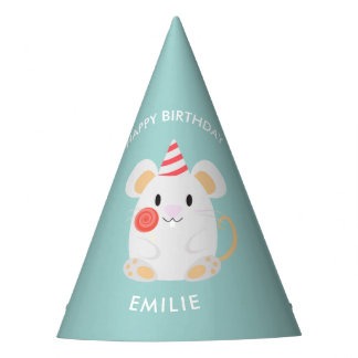 Adorable Mouse Kids Birthday Party Hat