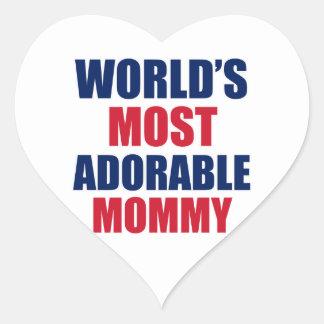 Adorable mummy heart sticker