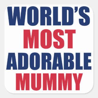 Adorable Mummy Square Sticker