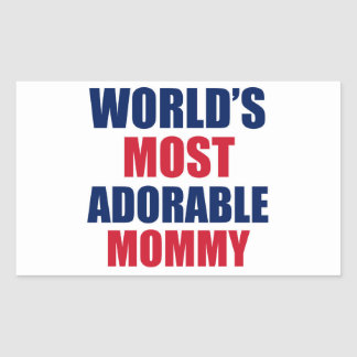 Adorable mummy rectangle stickers