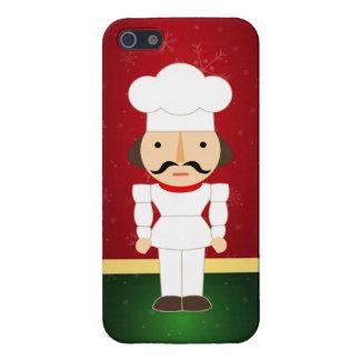 Adorable Nutcracker Chef - Happy Holidays iPhone 5 Cases