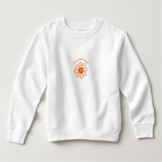 Adorable Orange Country Plaid Graphic Flower Icon Sweatshirt