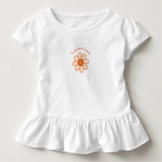 Adorable Orange Country Plaid Graphic Flower Icon Toddler T-Shirt