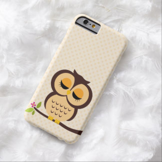Adorable Orange Owl Barely There iPhone 6 Case
