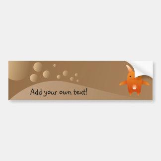 adorable orange rabbit. bumper sticker