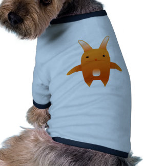 adorable orange rabbit doggie t shirt