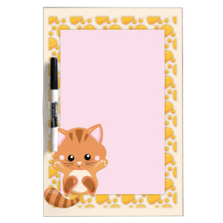 Adorable Orange Tabby Tiger Kitten Dry Erase Board