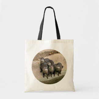 Adorable Otter Family Tote Bag