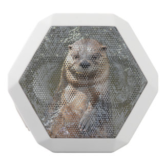 Adorable Otter on His Back White Boombot Rex Bluetooth Speaker