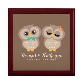 Adorable Owl Couple Gift Box