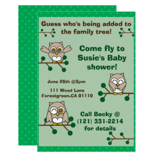 Adorable Owl invitation