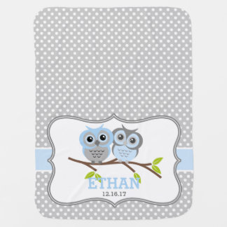 Adorable Owls Personalized Pramblanket