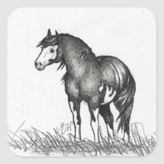 Adorable Paint Horse Stickers