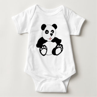 Adorable Panda Baby Bodysuit